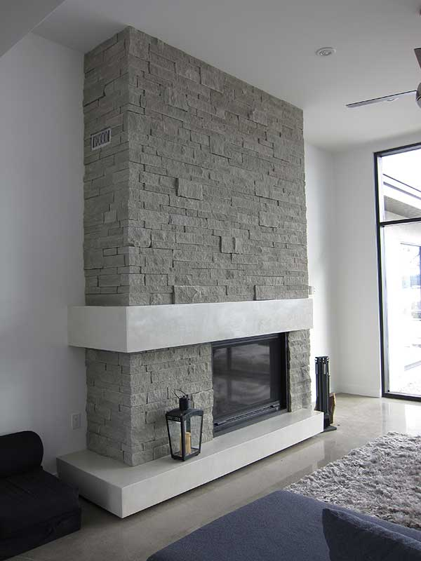 Arris stack fireplace
